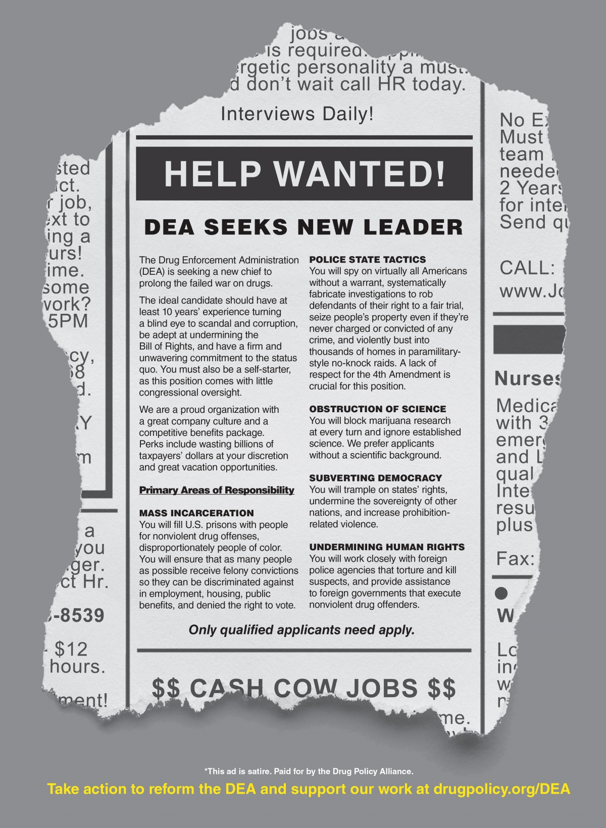 DPA Ad Calls Attention to DEA's Long History of Abuse, Failure