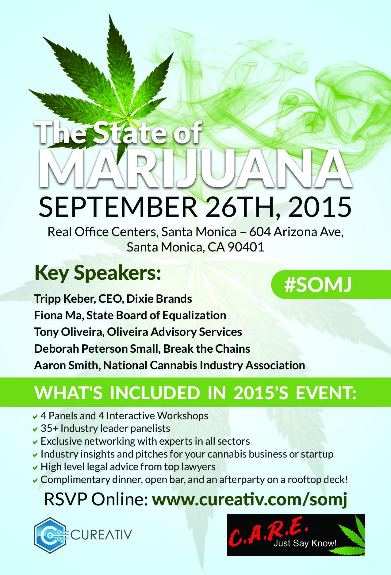 US Activists to Discuss the 'State of Marijuana,' Sept. 26