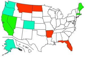 Key Bright Green States Legalized Adult Marijuana November 8 2016 Pale Green States Are Already Legal Red States Legalized Medical Use
