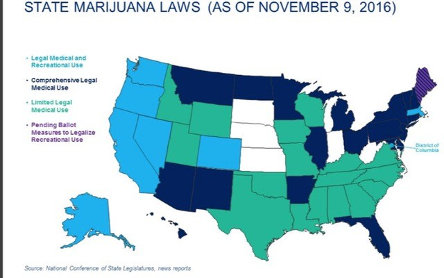 Twenty Nine States The District Of Columbia And The U S Territories Of Guam And Puerto Rico Have Enacted Effective Medical Marijuana Laws Marijuana Is