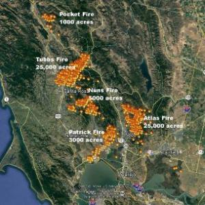 Wine Country Fire Map Twitter The Leaf Online