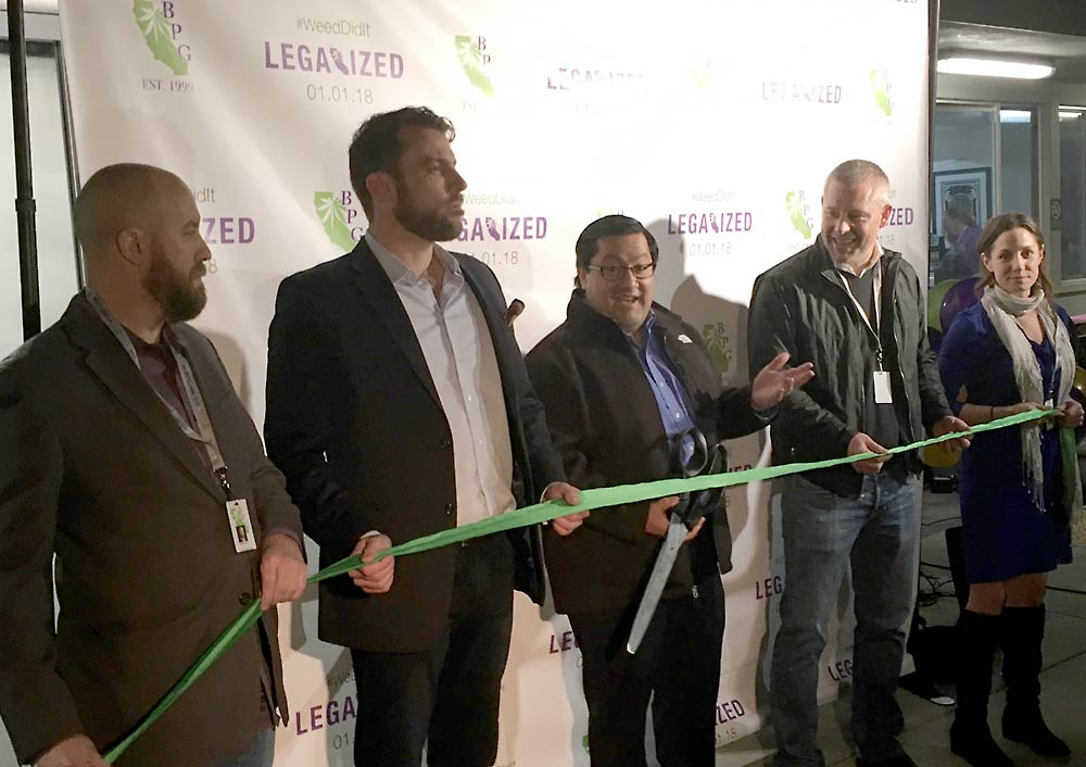 First day California legalization retail sales grand opening
